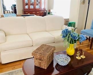 Basset Sofa has been sold on presale, if you would like to take advantage of presales, Like my business page on fb Angela's Stuff and click on the estate sale link.