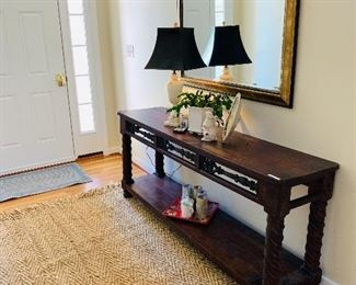 Stunning Solid Mahogany Console Table