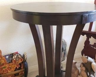 "62: Hand Carved Wooden Table	 Measures Approximately 42""×30"""