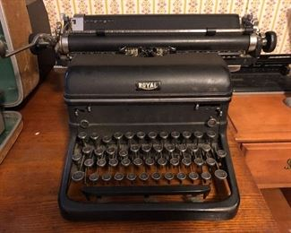 Vintage Royal typewriter; magic margin touch control