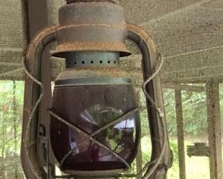 Antique lantern Dietz D-Lite Vintage primitive #2 kerosene oil lamp