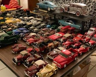 Toy car collection (many have authentication documents); approximately 105