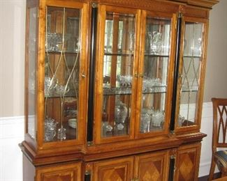 Matching Lighted China Cabinet, Lots of Crystal...