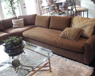 Sectional Sofa, Glass Top Coffee Table/Rug (5x8)...