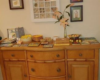 SOLD.  Pre-Sale on items over $100. Lovely Chest of Hall Foyer or Dining Area + Artwork