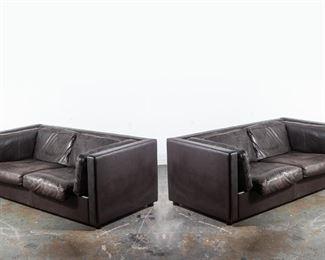 Danish Leather Sofa Set
