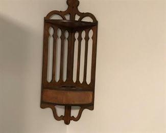 Victorian walnut knick-knack shelf