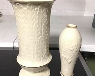 Lenox 24K Gold Trim Vases