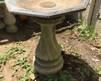 Large Concrete Bird Bath