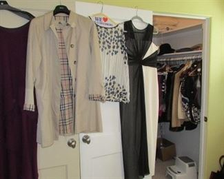 Packed closet with contemporary, stylish clothing for men and women