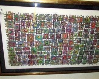 Intricate fabric/ textile art