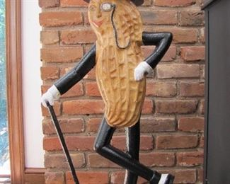 Mr. Peanut Cast Iron Fence Sitter