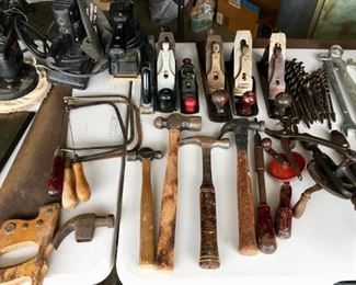 Hammers, saws, tools
