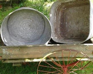 Gavanized wash tubs