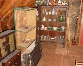 Doll House, Child's Cabinet & Bookcase