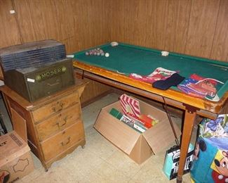 Advertising Items & Small Pool Table