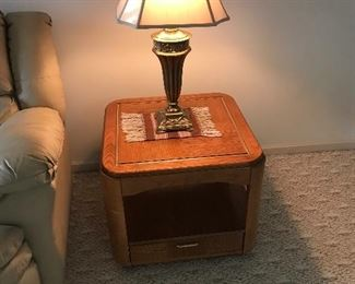 The matching end table with drawer!