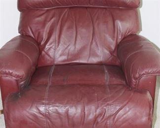 Leather La Z Boy recliner.