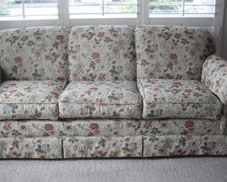 Newly upholstered sofa.
