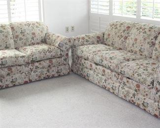 Matching sofa and love seat.