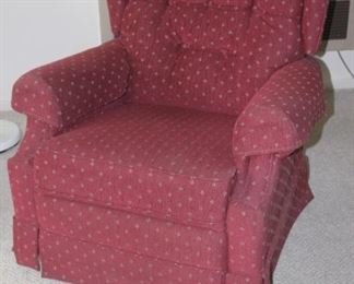 Fabric La Z Boy recliner.