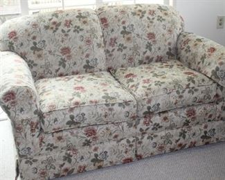 Newly upholstered love seat.