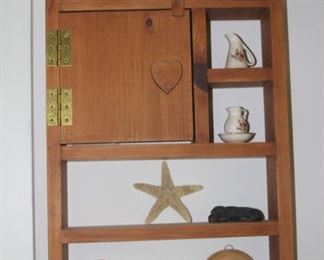 Knick Knack shelves.