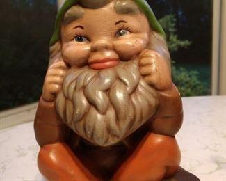Adorable vintage garden gnome