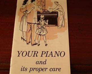 owner's manual for Piano