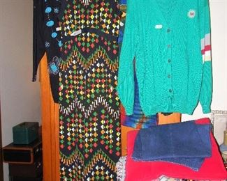 some of the vintage clothes