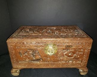 Hand Carved Chest of Wealth https://ctbids.com/#!/description/share/171913