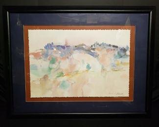 Lawrence C. Goldsmith water color print.     https://ctbids.com/#!/description/share/171926