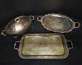 Large Vintage Silver Serving Pieces https://ctbids.com/#!/description/share/171925
