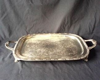 Metal serving tray with handles. https://ctbids.com/#!/description/share/171933