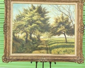 Oil painting with tree signed Domeinco Fallucci https://ctbids.com/#!/description/share/171942