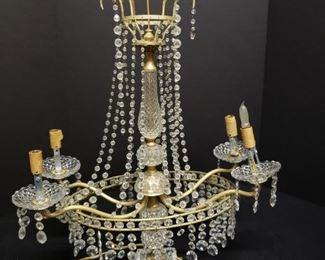 Vintage Chandelier lamp https://ctbids.com/#!/description/share/171969