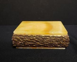 Vintage Italian Alabaster jewelry box https://ctbids.com/#!/description/share/171971