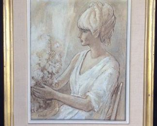 Young Girl With Flowers by Caro https://ctbids.com/#!/description/share/171980