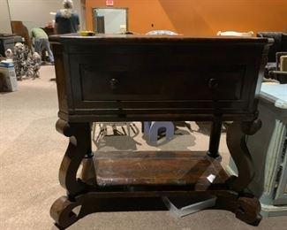 #1Tall Wood  Drop Down Antique Desk w/hidden compartments 48x24x46 $500.00