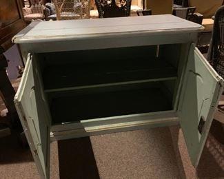 #2Aqua Blue Pine wood Cabinet w/2 doors & Shelf 48x21x32 $120.00