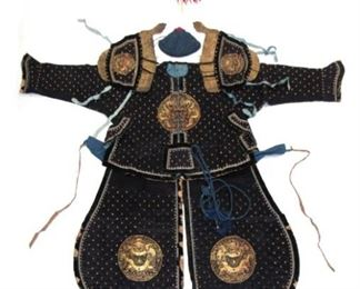 A Manchu Military Officers Ceremonial Armor