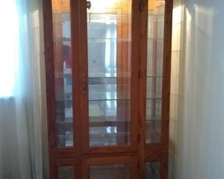 003 Curio Cabinet with 7 Glass Shelves