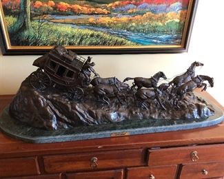 Charles Marion Russell Bronze Stagecoach!