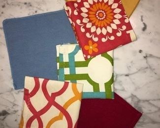 Cocktail Napkins. Many shapes, sizes and colors.