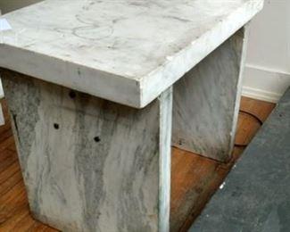 A Set of Marble Slab Plinths