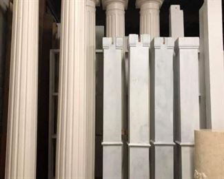 Pillars ranging and styles and sizes from 8 foot to 10 foot to 12 foot.