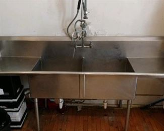 Stainless-steel sink.