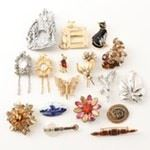 Vintage Gold Tone and Silver Tone Fashion Brooches