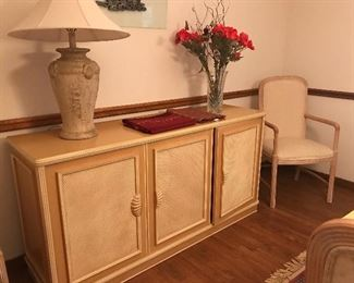 Buffet matches dining table and chairs