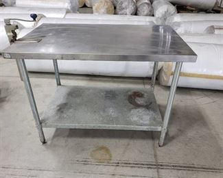 48x30 stainless table with can opener